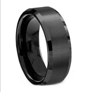 Black Band Ring Men's Matte Size 11!